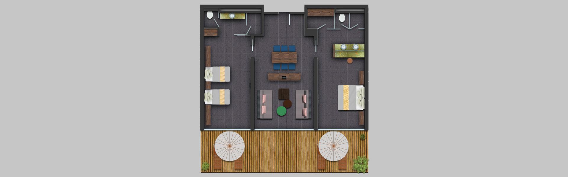 Royal Residence Aile Süiti Oda Planı